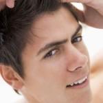 Man Fixing Hair